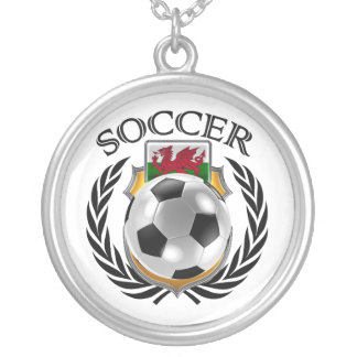 Wales Soccer 2016 Fan Gear Silver Plated Necklace