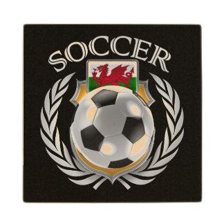 Wales Soccer 2016 Fan Gear Wooden Coaster