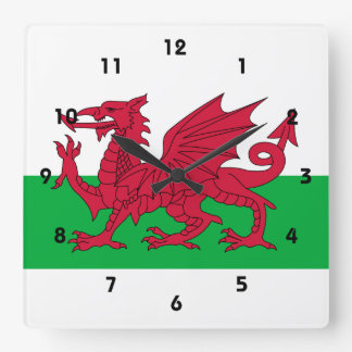 wales square wall clock