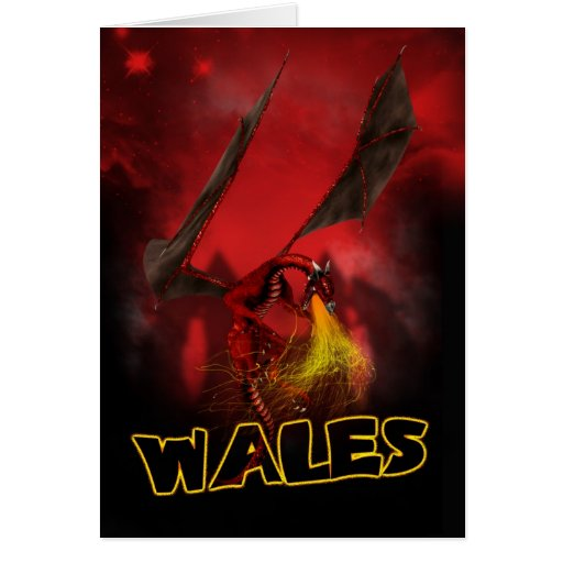 Wales - St. David's Day Card - Welsh Red Dragon Ca