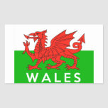 wales united kingdom country flag text name welsh stickers