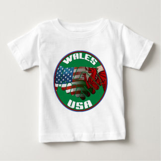 Wales USA Friendship Baby T-Shirt
