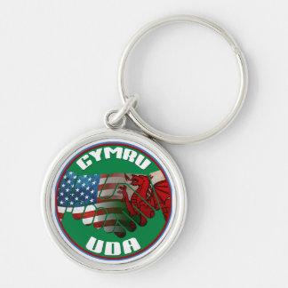 Wales USA Friendship Keyring Keychains