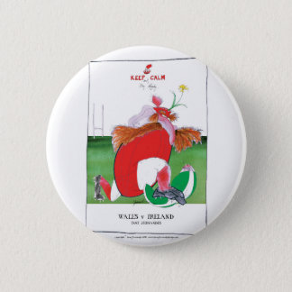 wales v ireland rugby balls by tony fernandes button