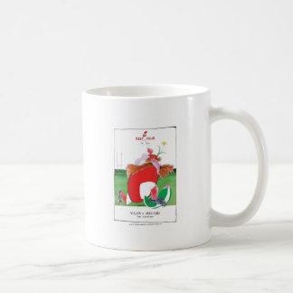 wales v ireland rugby balls by tony fernandes coffee mug