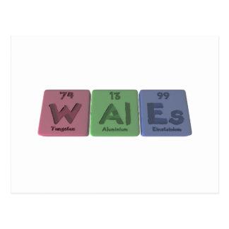 Wales-W-Al-Es-Tungsten-Aluminium-Einsteinium.png Postcard