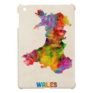 Wales Watercolor Map iPad Mini Case