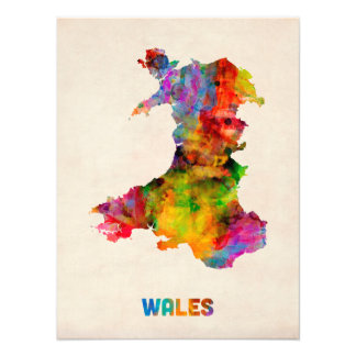 Wales Watercolor Map Photo