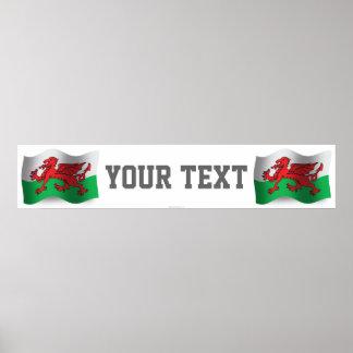 Wales Waving Flag Banner Poster