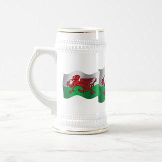 Wales Waving Flag Beer Stein