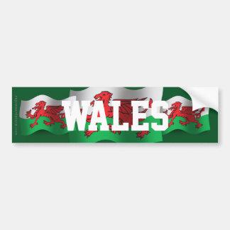 Wales Waving Flag Bumper Sticker