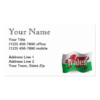 Wales Waving Flag Business Card Template