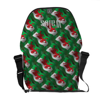 Wales Waving Flag Courier Bag