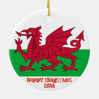 Wales Welch Dragon Flag Christmas Ornament