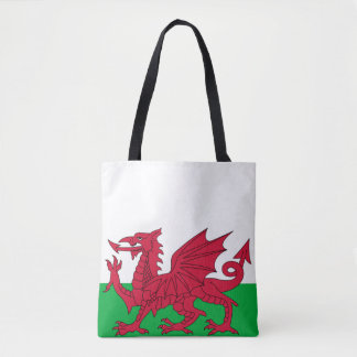 Wales Welch Red Dragon Shows the Way Tote Bag