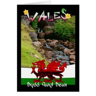 Wales, Welsh card saying Dydd Gwyl Dewi
