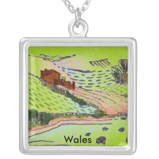 Wales / Welsh Countryside Silver Plated Necklace