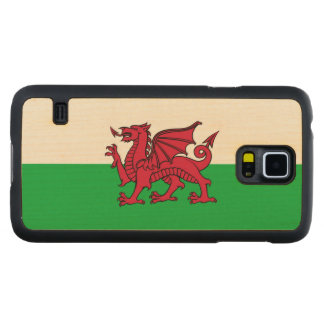 Wales Welsh Dragon Flag Carved® Maple Galaxy S5 Slim Case