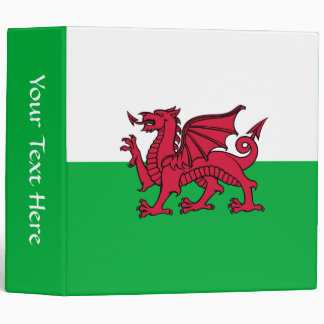 Wales - Welsh Flag 3 Ring Binder