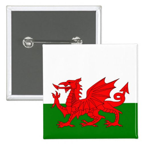 Wales  Welsh flag Pinback Buttons
