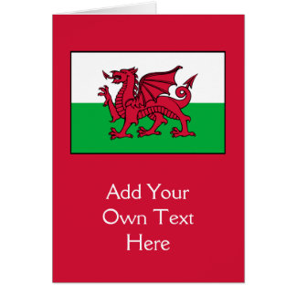 Wales - Welsh Flag Card