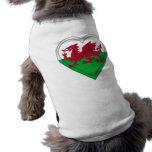 Wales Welsh flag cymru dragon Dog Tee
