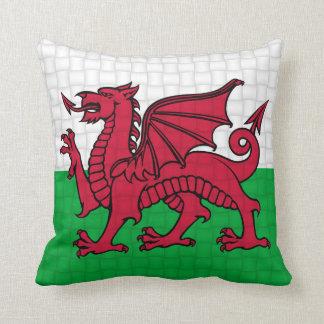 Wales Welsh flag cymru dragon Throw Pillow