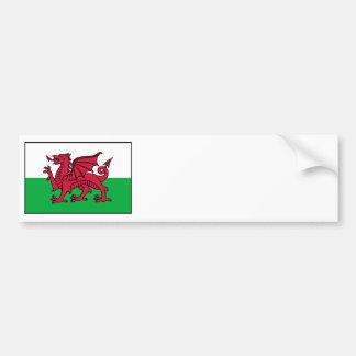 Wales Welsh Flag Dragon Bumper Sticker