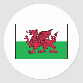 Wales Welsh Flag Dragon Classic Round Sticker