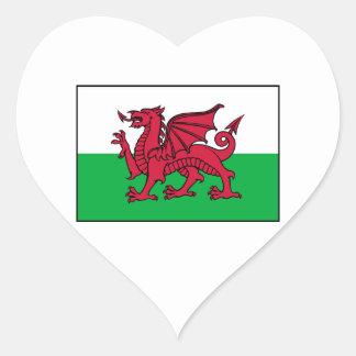 Wales Welsh Flag Dragon Heart Sticker
