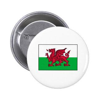 Wales Welsh Flag Dragon Pinback Button