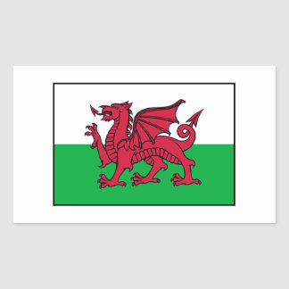 Wales Welsh Flag Dragon Rectangular Sticker