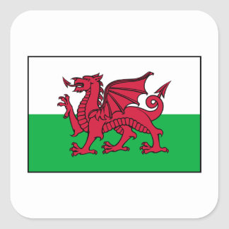 Wales Welsh Flag Dragon Square Sticker
