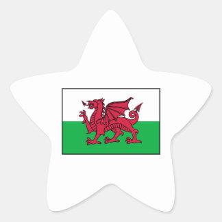 Wales Welsh Flag Dragon Star Sticker