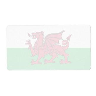 Wales -Welsh Flag Label