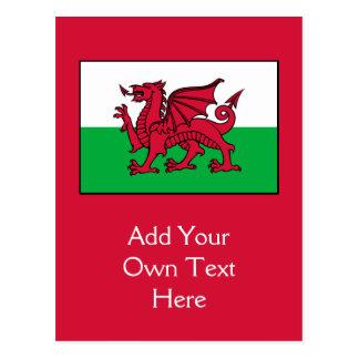 Wales - Welsh Flag Postcard