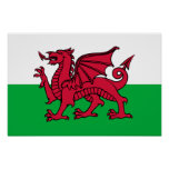 Wales -Welsh Flag Poster