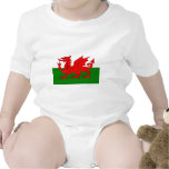 Wales  Welsh flag Rompers