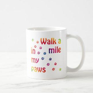 Walk a mile (feline) classic white coffee mug