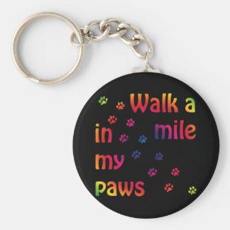 Walk a mile (feline) keychain