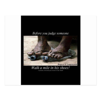 Walk a Mile in Their Shoes Postcard