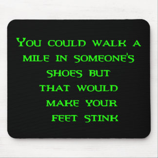 walk a mile mouse pad