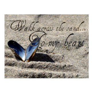Walk Across the Sand Post Card