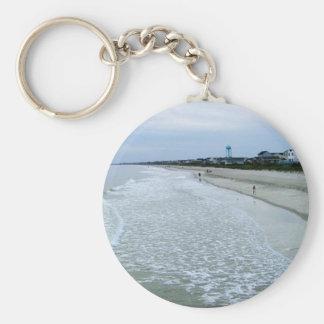 Walk Along Oak Island Seashore Keychain