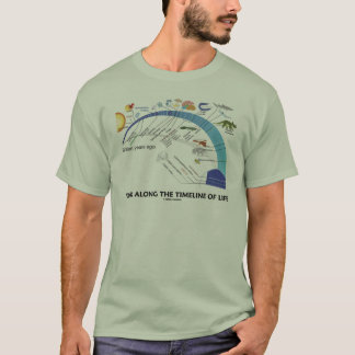 Walk Along The Timeline Of Life Biology Evolution T-Shirt