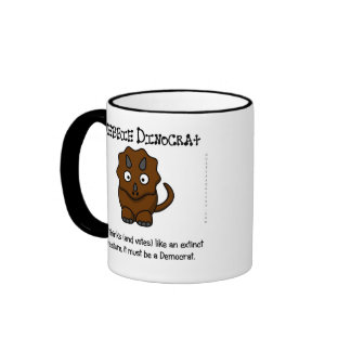 Walk and talk like a Democrat Ringer Coffee Mug