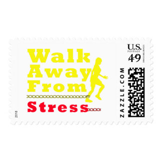 Walk Away From Stress Postage Stamps