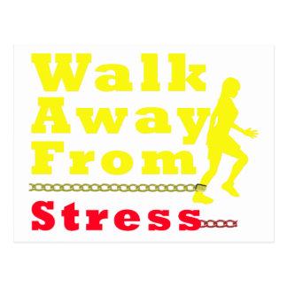 Walk Away From Stress Postcard