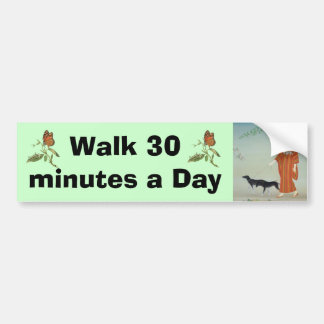 Walk bumper sticker