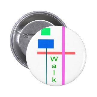 Walk 2 Inch Round Button